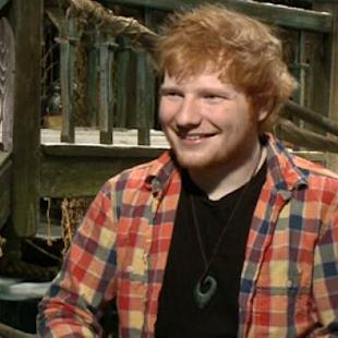 Ed Sheeran talks 'The Hobbit: The Desolation of Smaug' in a makeshift Lake Town at the film's junket in Beverly Hills, Dec. 2013 -- Access Hollywood