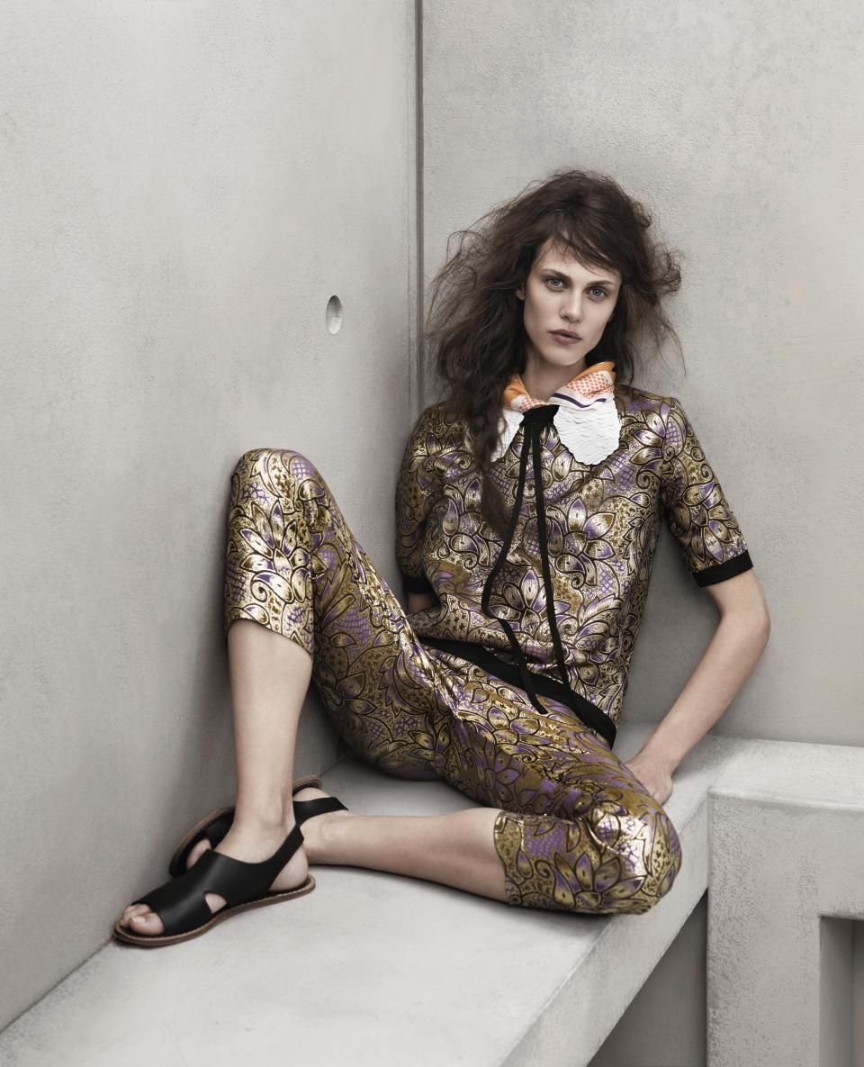 A model wears Marni for H&M