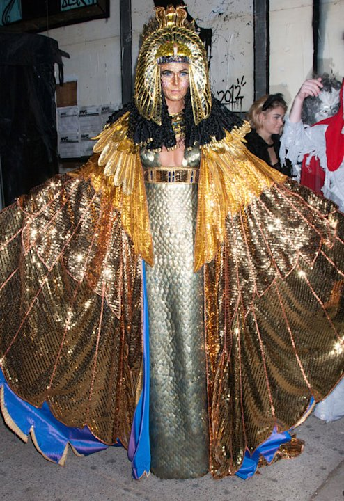 2012: Heidi Klum dressed as Cleopatra at the bash, which was postponed until December because of Hurricaine Sandy. Copyright [Rex]