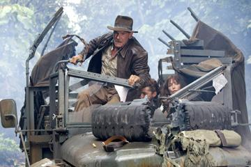 Harrison Ford , Shia LaBeouf and Karen Allen in Paramount Pictures' Indiana Jones and the Kingdom of the Crystal Skull