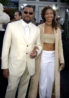 Premiere: Laurence Fishburne and Gina Torres at the Hollywood premiere of Warner Brothers' The Matrix: Reloaded - 5/7/2003 