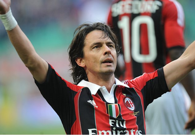 Filippo Inzaghi (L) Celebrates AFP/Getty Images