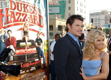 Premiere: Nick Lachey and Jessica Simpson at the Hollywood premiere of Warner Bros. Pictures' The Dukes of Hazzard - 7/28/2005