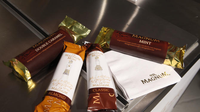 MAGNUM Mini Ice Cream bars are served at the alice + olivia Spring 2013 collection presentation during Fashion Week, Monday Sept 10, 2012, in New York.  Visit MagnumIceCream.com for more information. (Photo by Jason DeCrow/Invision for Magnum Ice Cream/AP Images)