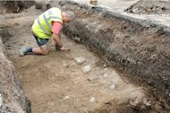 University of Leicester archeologists are digging in the Leicester City Council parking lot in search of the grave of King Richard III.