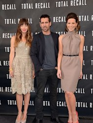 Jessica Biel, Colin Farrell and Kate Beckinsale attend the photo call for Columbia Pictures' 'Total Recall' held at the Four Seasons Hotel in Los Angeles on July 28, 2012  -- Getty Images