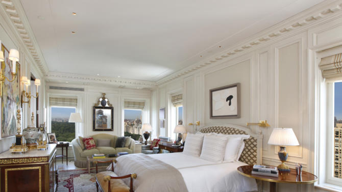 $50 million two-bedroom apartment at Central Park Ritz-Carlton bedroom