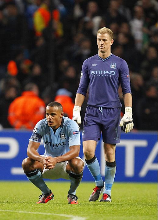 Vincent Kompany reportedly left the Etihad on crutches on Wednesday