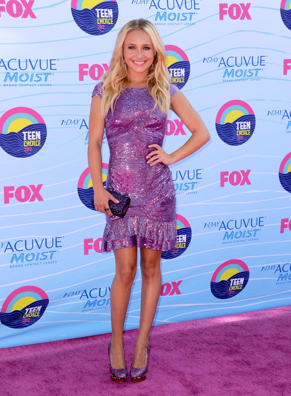 Hayden Panettiere arrives at the Teen Choice Awards on Sunday, July 22, 2012, in Universal City, Calif. (Photo by Jordan Strauss/Invision/AP)
