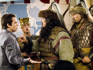 Ben Stiller , Rami Malek and Patrick Gallagher in 20th Century Fox's Night at the Museum