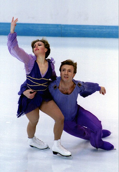 "Jayne Torvill and Christopher Dean during their perfomance of their famous ""Bolero"" number at the Ol.."