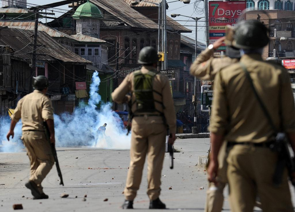 Indian flag torched in Kashmir protest