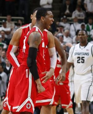 Ohio St tops Michigan St for 3-way tie in Big Ten