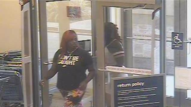 Woman Wearing 'Won't Be Caught' T-Shirt Shoplifts, Is Caught on Camera