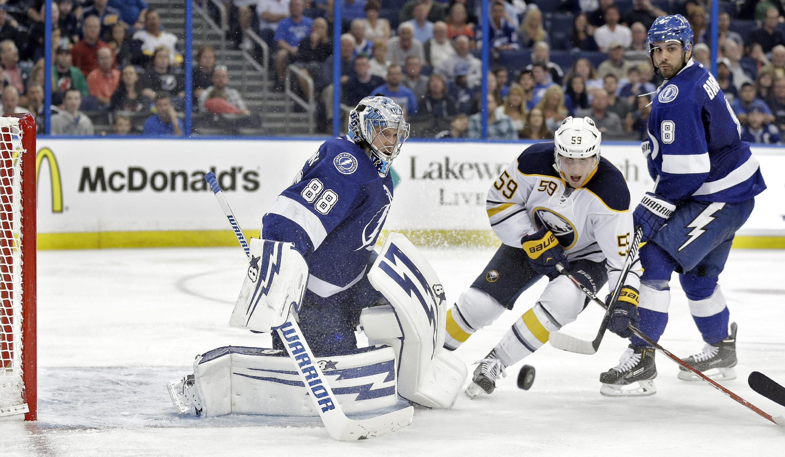 Lightning rookie Vasilevskiy earns 1st NHL shutout