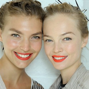 Jason Wu SS12 Backstage: Bright Lips