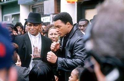 Mario Van Peebles as Malcolm X and Will Smith as Muhammad Ali in Columbia's Ali