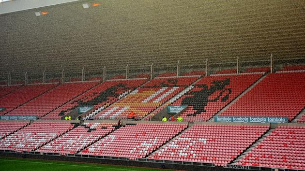 Sunderland&#39;s Stadium of Light in the rain