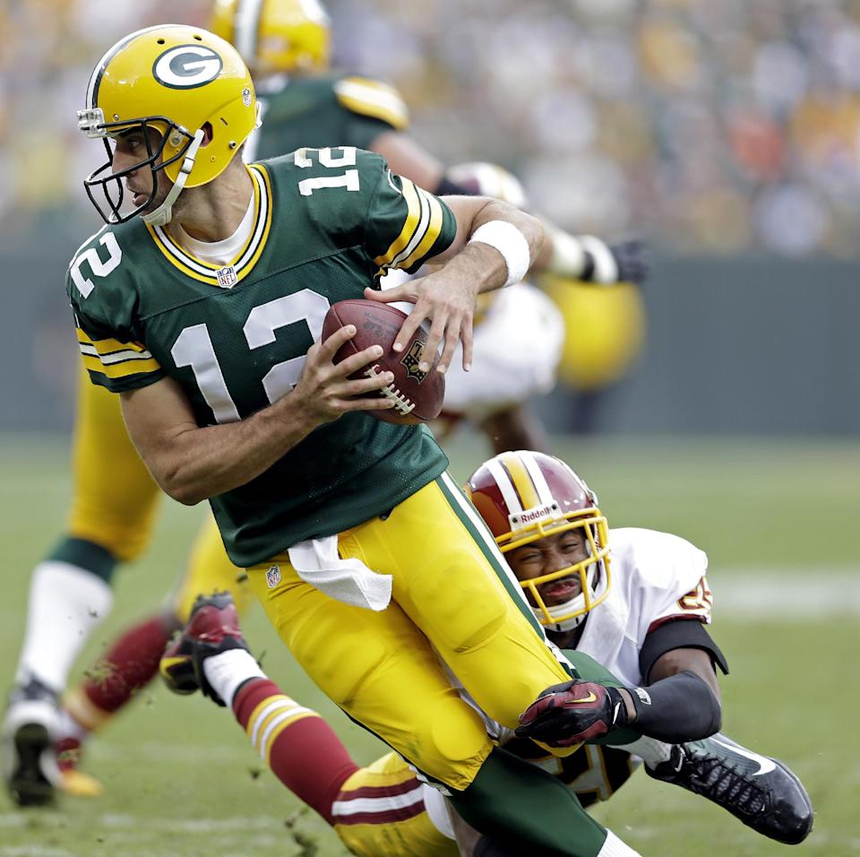 Rodgers has big day, Packers beat Redskins 38-20