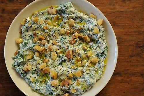 Yoghurt Spinach Dip in the Persian Manner