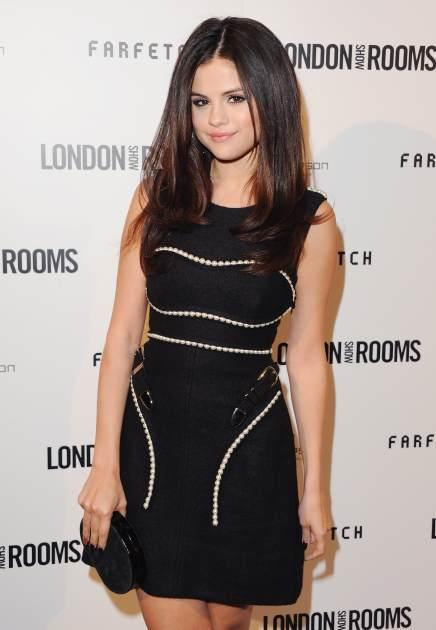 Selena Gomez arrives at the British Fashion Council Celebrates 'London Show Rooms LA' at Thompson Hotel on April 9, 2013 in Beverly Hills, Calif. -- Getty Premium