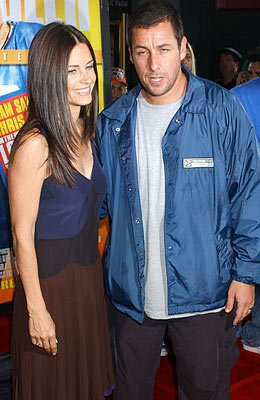 Premiere: Courteney Cox-Arquette and Adam Sandler at the Hollywood premiere of Paramount Pictures' The Longest Yard - 5/19/2005