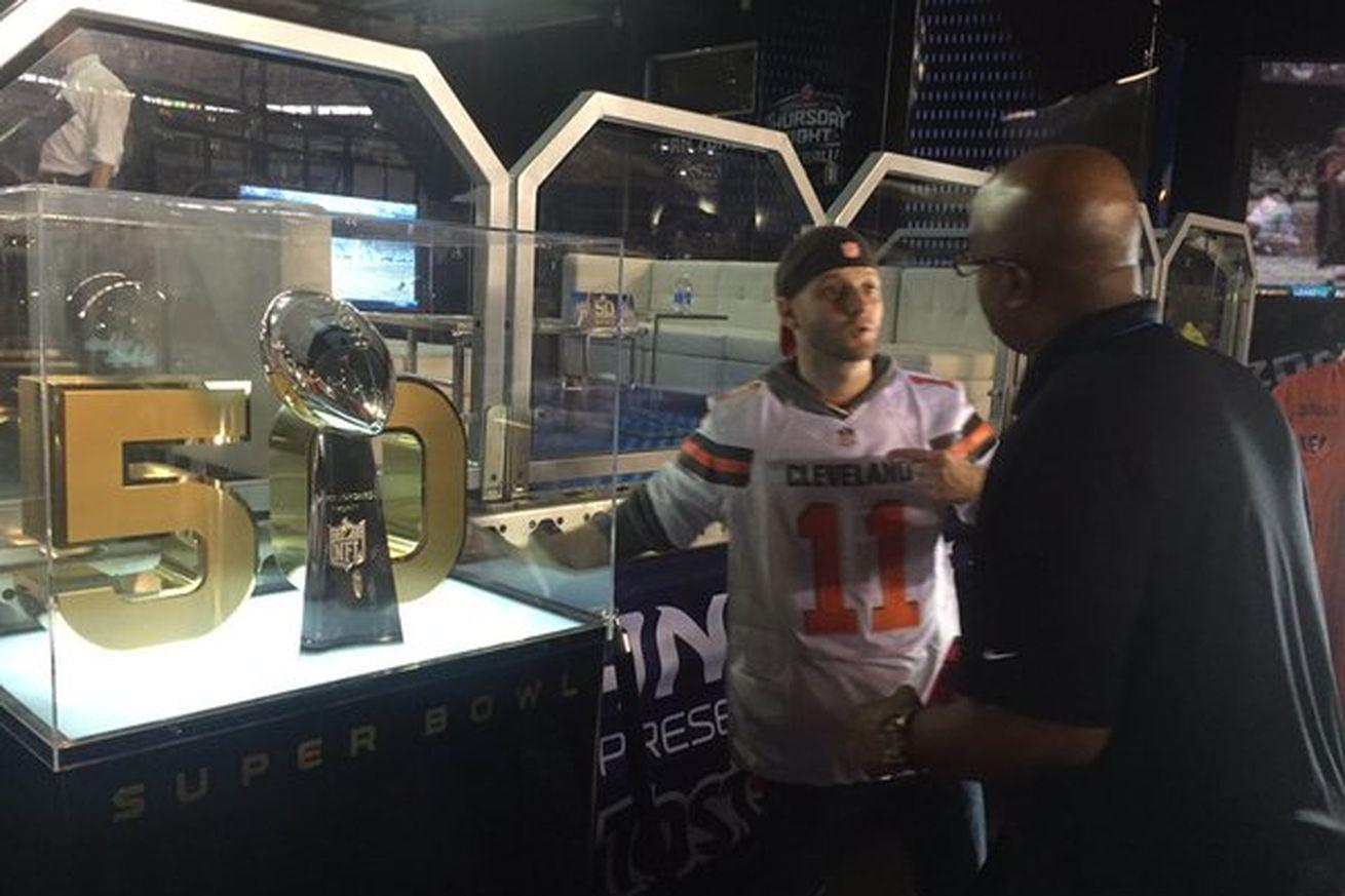 The NFL won't let you near the Lombardi Trophy if you're wearing a Browns jersey