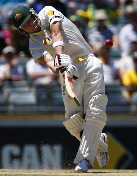 Australia's Steven Smith plays a shot during the first day of the third Ashes cricket test against England at the WACA ground in Perth