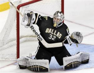 Morrow, Lehtonen lead Stars past Ducks, 2-0