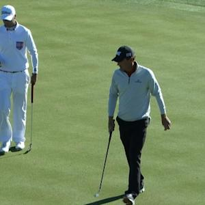 Charles Howell III holes a 31-footer for birdie at Waste Management