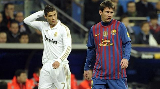 Real Madrid's Cristiano Ronaldo and Barcelona's Lionel Messi