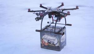 Lakemaid Beer Tests Drone Delivery on Frozen Northern Lakes