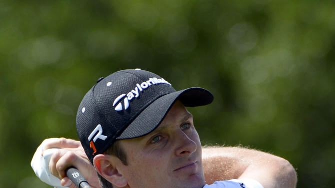 Justin Rose, of England, tees off on the first hole during the second round of the Arnold Palmer Invitational golf tournament, Friday, March 22, 2013, in Orlando, Fla. (AP Photo/Phelan M. Ebenhack)