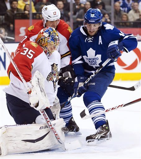 Lupul leads Maple Leafs past Panthers, 3-2