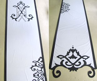 kim kardashian wedding aisle runner