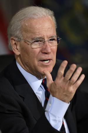 Vice President Joe Biden gestures as he speaks at Girard College in Philadelphia, Monday, Feb. 11, 2013, after a round table discussion on gun control with elected and law enforcement officials. (AP Photo/Matt Rourke)