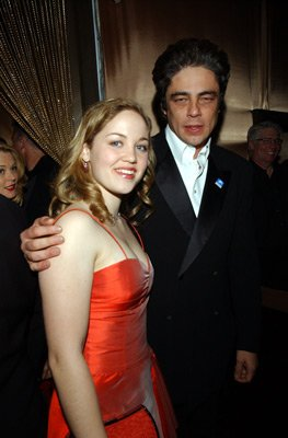 Erika Christensen and Benicio Del Toro Elton John AIDS Foundtation In-Style Party Hollywood, CA 3/24/2002