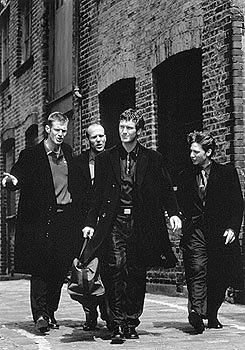 Jason Flemyng , Jason Statham , Nick Moran and Dexter Fletcher in Gramercy's Lock, Stock and Two Smoking Barrels