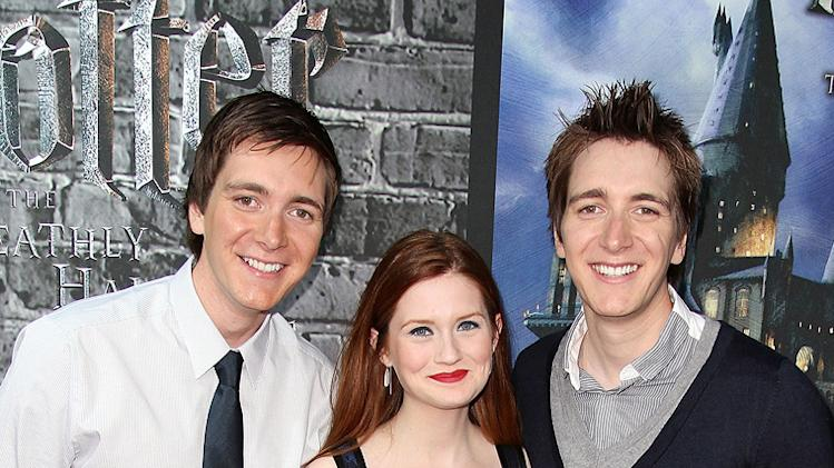 Harry Potter the Experience 2011 NYC James Phelps Oliver Phelps Bonnie Wright