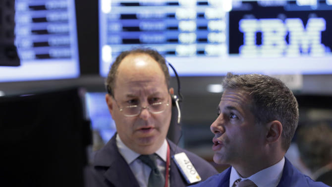 Stocks slide on Wall Street; Dow below 15,000