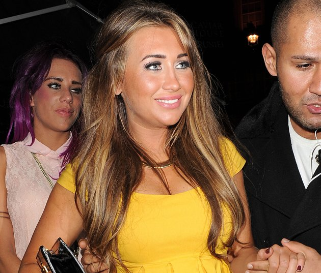 Lauren Goodger in a yellow dress