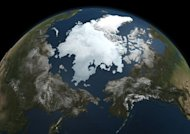File photo provided by NASA in September 2010 shows the Arctic sea ice. Arctic sea ice expands and contracts seasonally, with the lowest extent usually occurring in September
