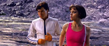 Emile Hirsch as Speed and Christina Ricci as Trixie in Warner Bros. Pictures' Speed Racer