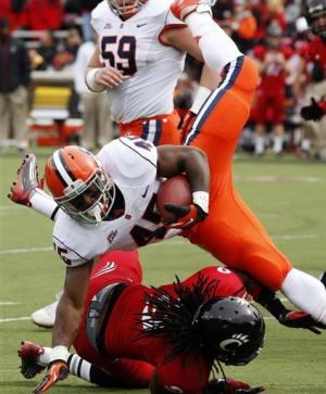 Winn's TDs send Cincinnati over Syracuse 35-24