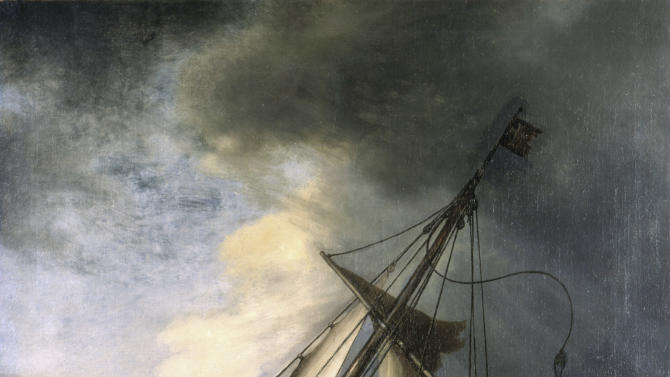 """FILE - In this undated photograph released by the Isabella Stewart Gardner Museum shows the painting """"The Storm on the Sea of Galilee"""" by Rembrandt, one of more than a dozen works of art burglars stole during a 1990 heist in Boston. A Rotterdam museum art heist this week netted paintings by Pablo Picasso, Claude Monet, Henri Matisse and others — but it's not the first time that money-conscious thieves with an eye for beauty have targeted famous multimillion-dollar canvasses. (AP Photo/Isabella Stewart Gardner Museum, File)"""