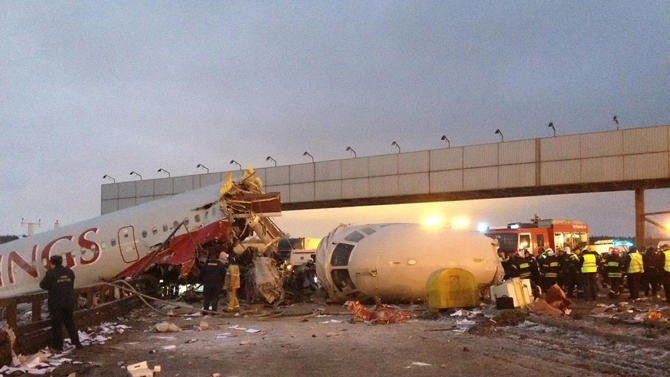 4 dead in Moscow airliner crash