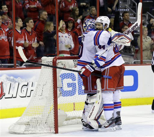 Rangers beat Caps 5-0 in Game 7 to reach 2nd round