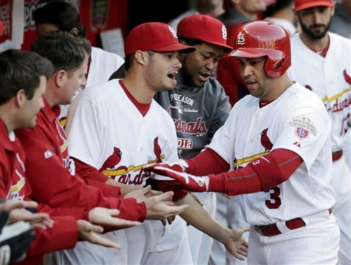 Cardinals rout Nationals 12-4, tie NLDS 1-all