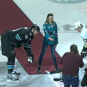 Polina Edmunds ceremonial puck drop