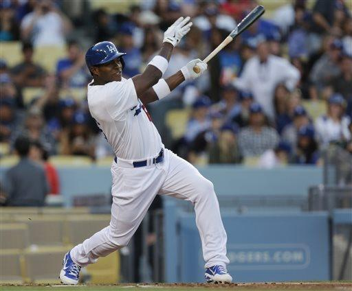 Puig homers twice in Dodgers' 9-7 win over Padres